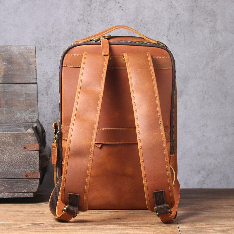 Leather Laptop Rucksack