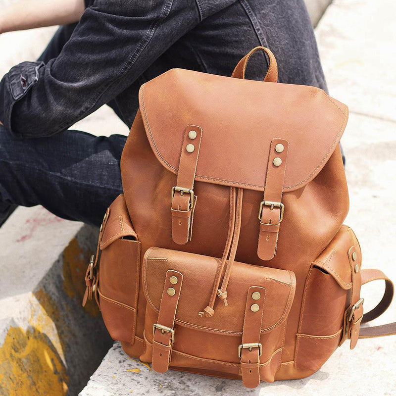 backpack for men brown