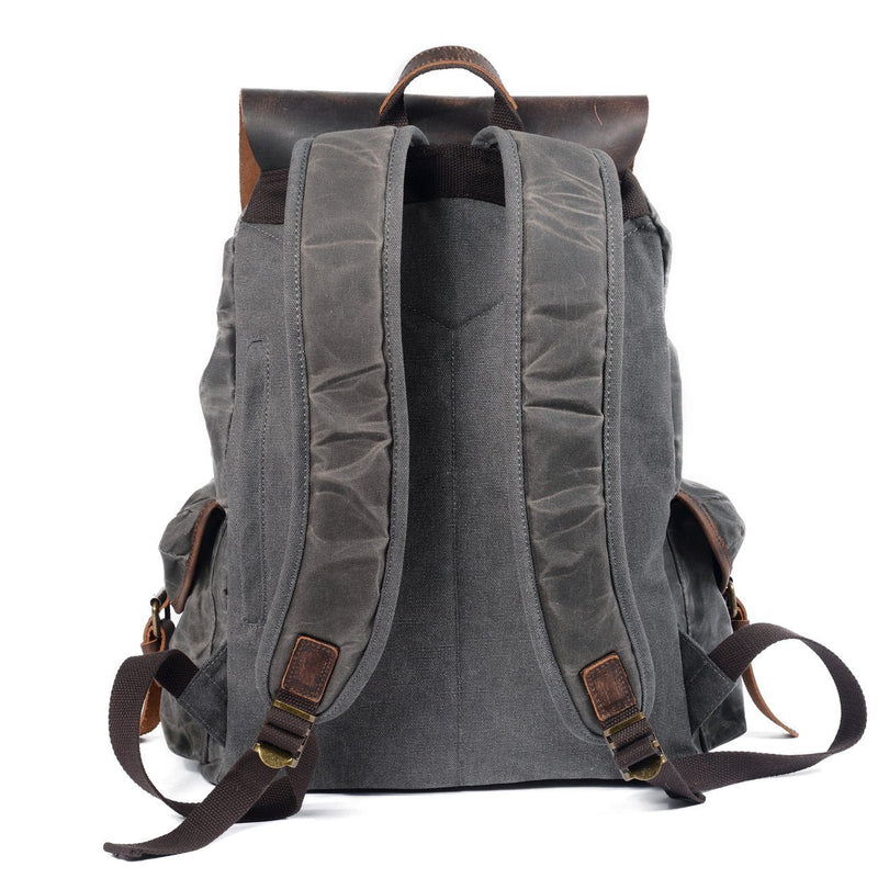 backpack leather canvas