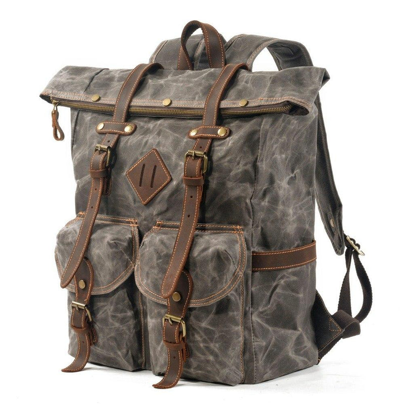 hipster leather backpack