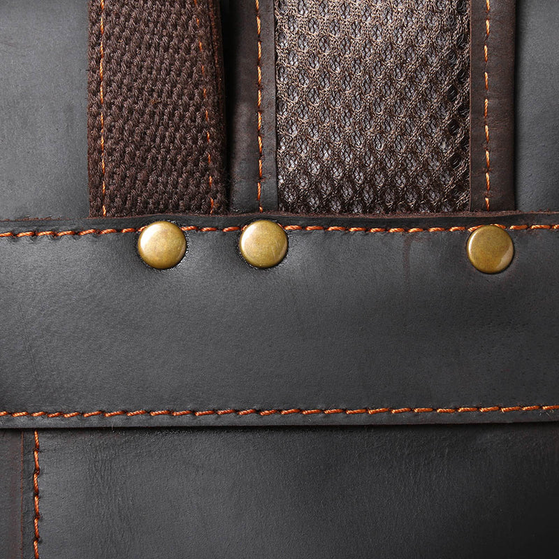 black leather bag details