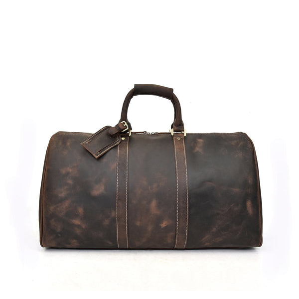 brown leather holdall mens