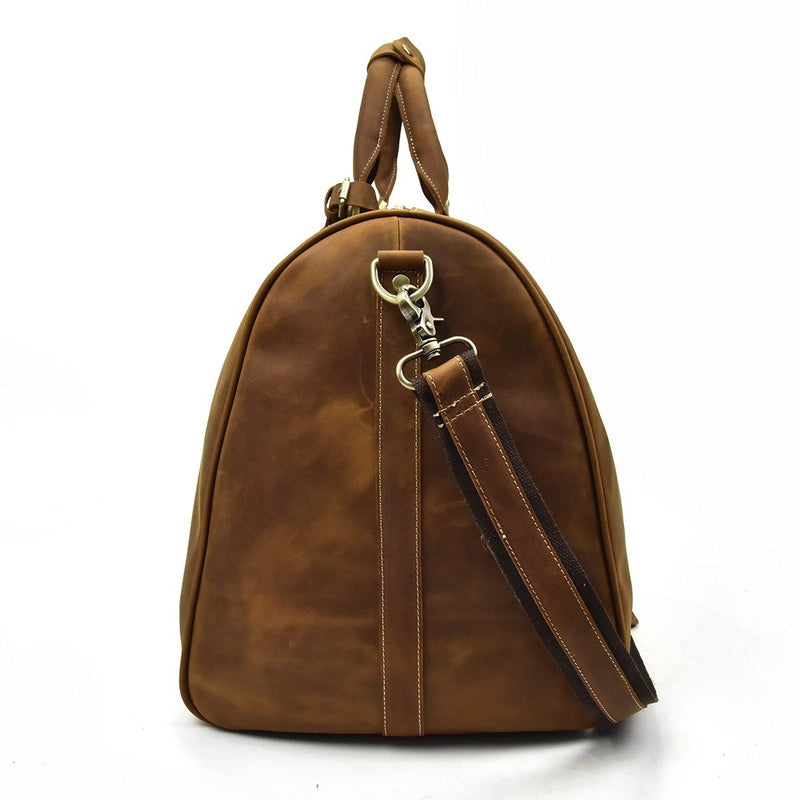 brown leather holdall uk