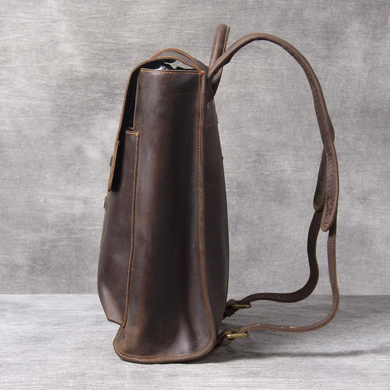 brown leather rucksack ladies