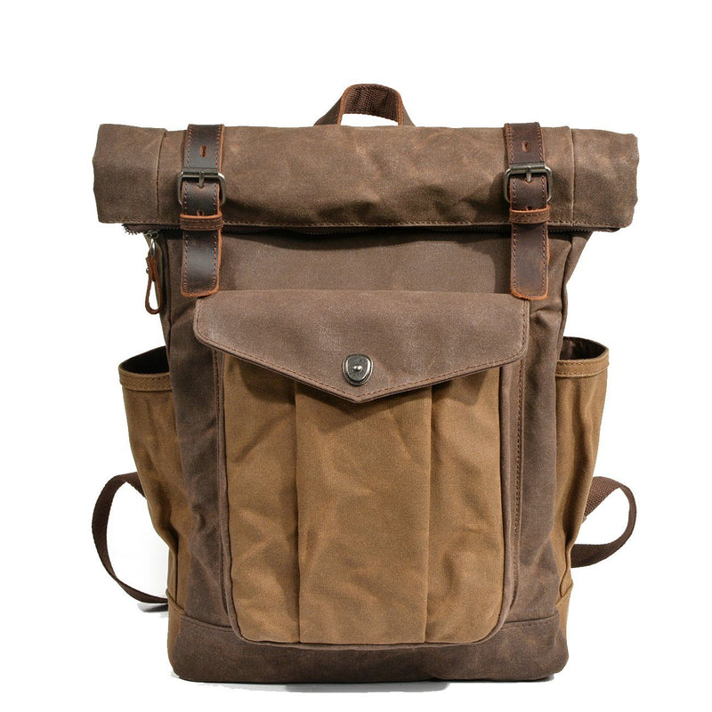 canvas roll top rucksack