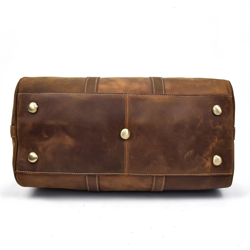 designer leather holdall