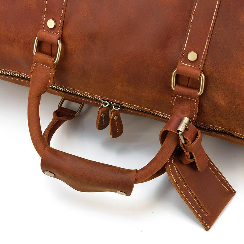 duffle bag brown leather