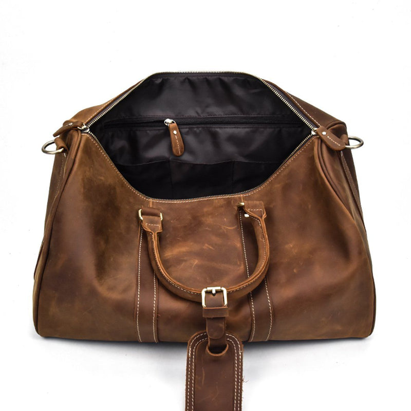 genuine leather holdall