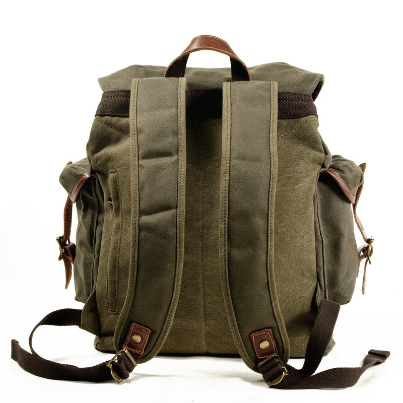 green army old school backpack