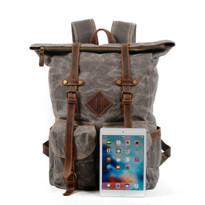 hipster vintage backpack
