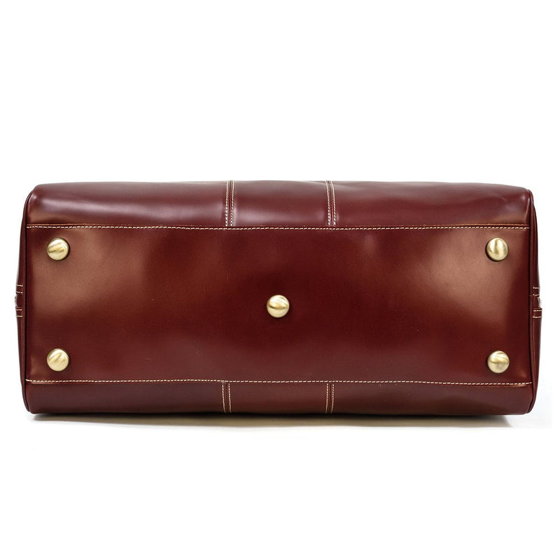 italian leather weekender bag