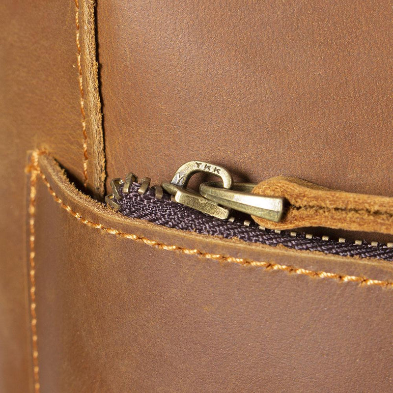 ladies brown leather rucksack