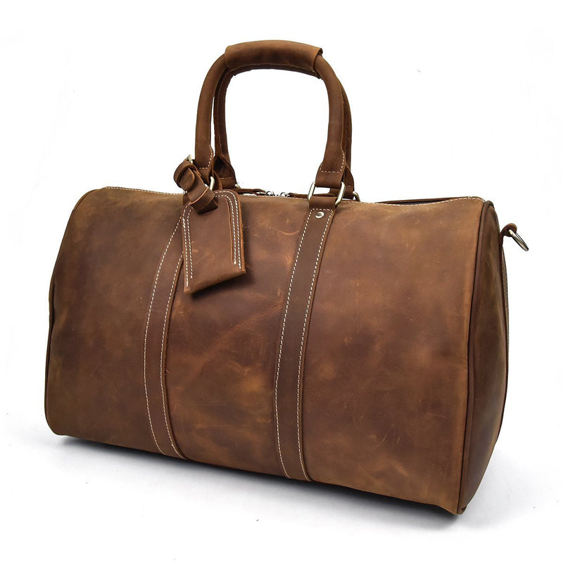ladies leather holdall