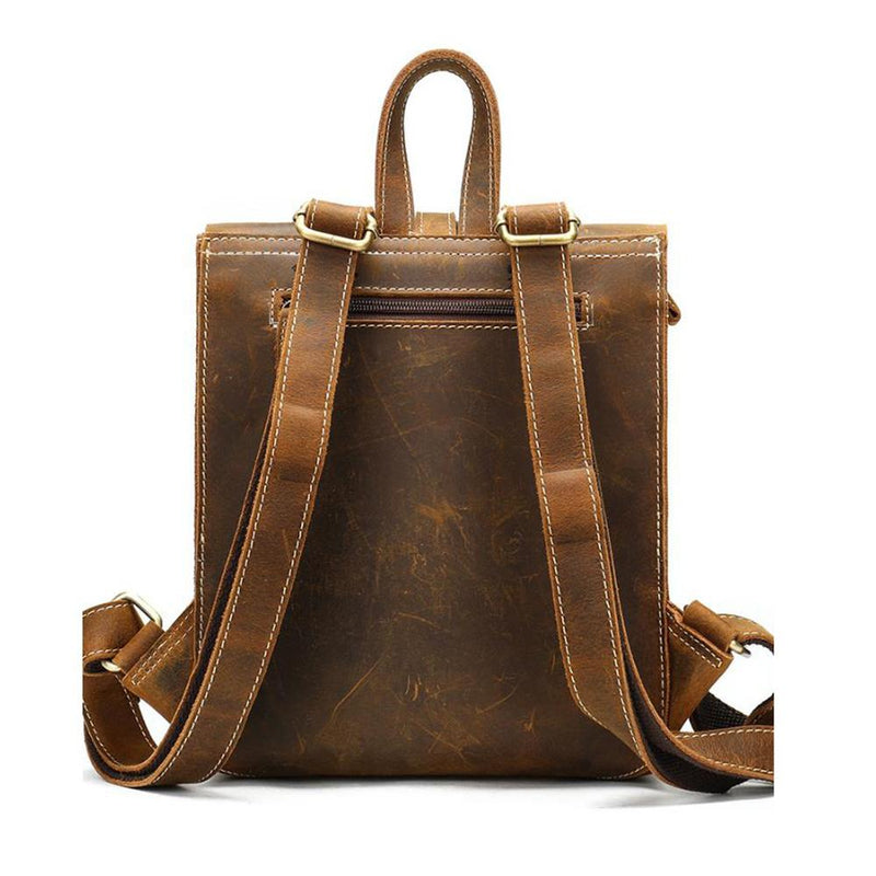 ladies leather rucksack