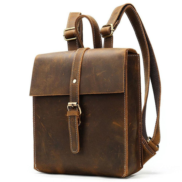 ladies leather tan rucksack