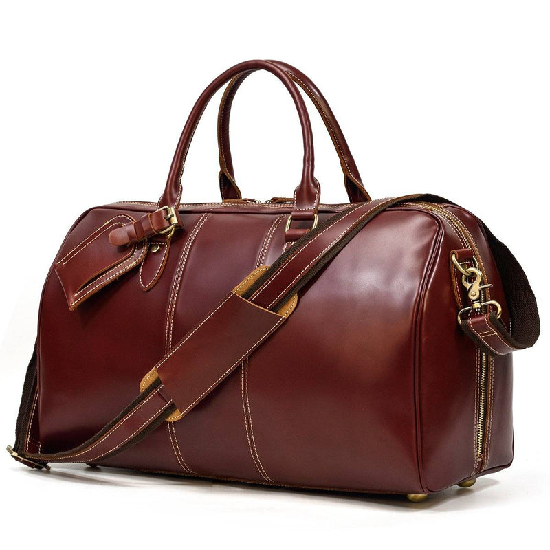 ladies leather weekend bag