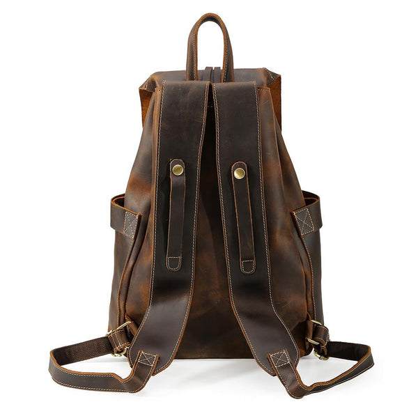 ladies leather work backpack