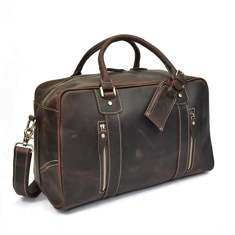 ladies overnight bag leather