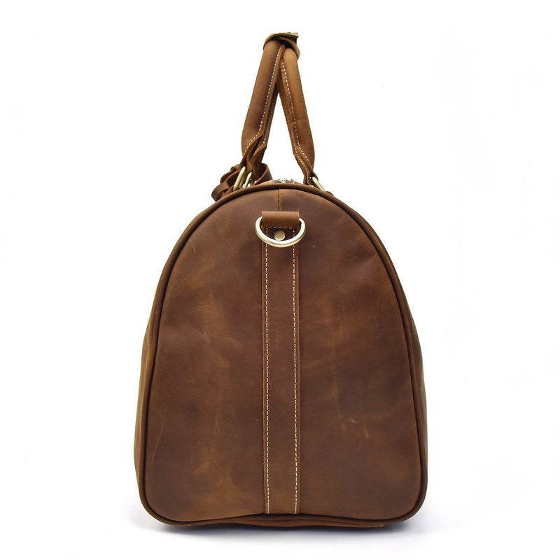 large leather holdall