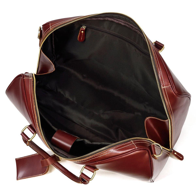 large leather weekend bag