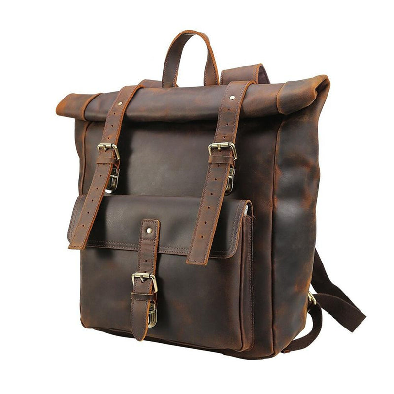 leather backpack outdoor