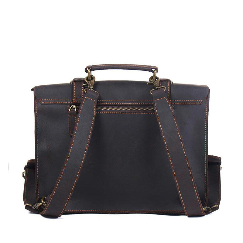 leather courier bag