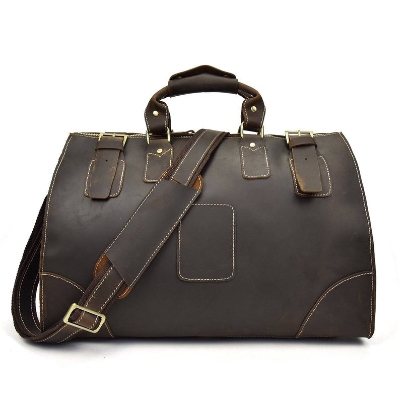 leather gym duffel bags