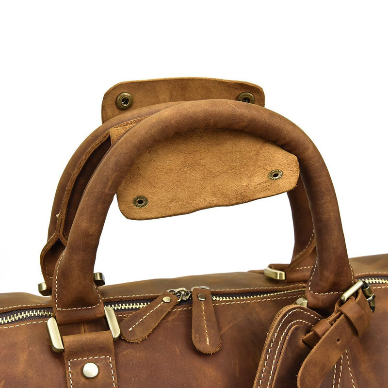leather holdall womens