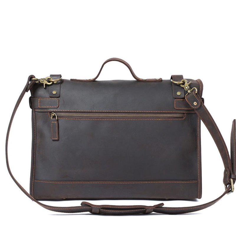leather school shoulder bag
