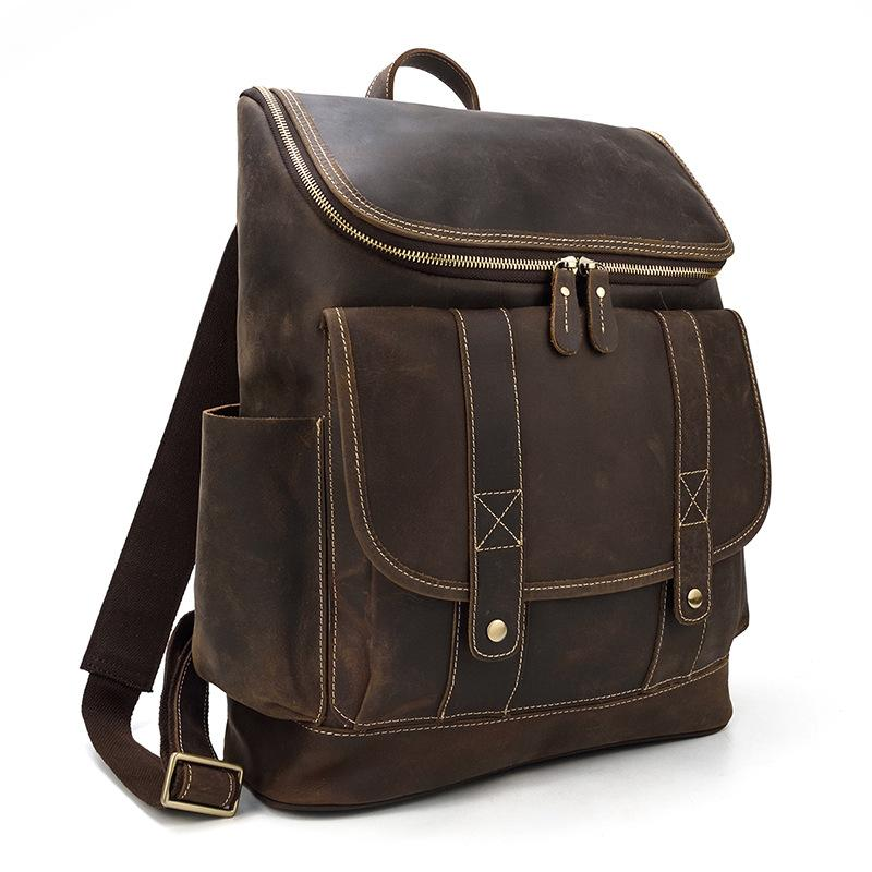 leather school backpack classic