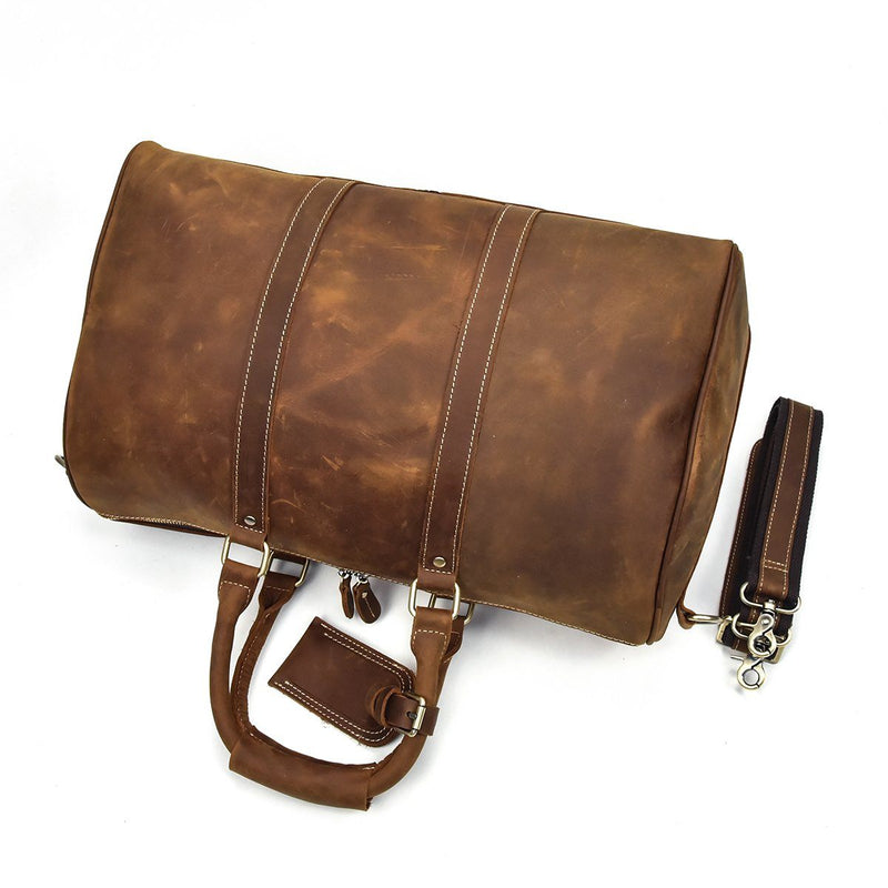 leather weekend bag holdall
