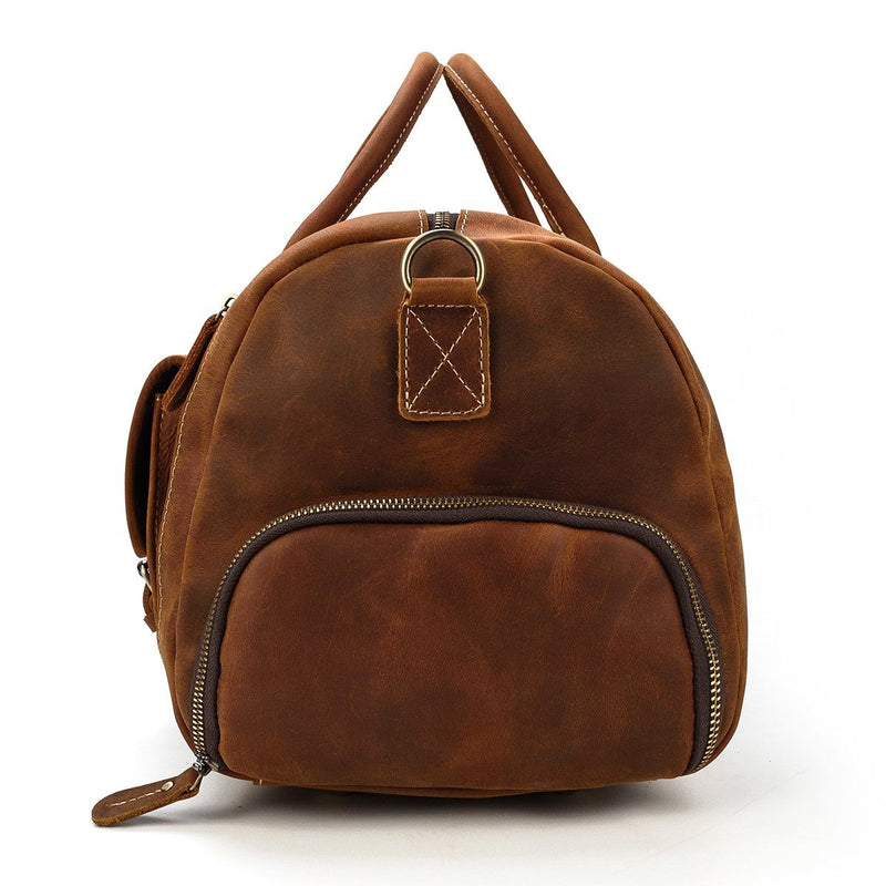 leather weekend bag mens uk