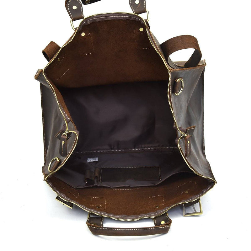 leather weekend bag womens