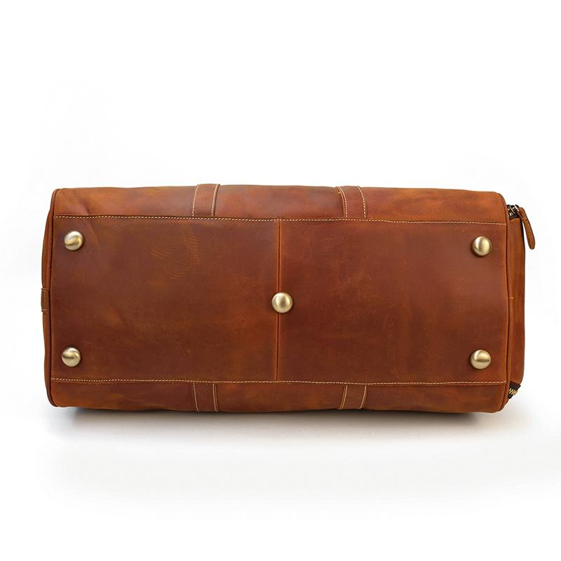 leather weekend duffle bag
