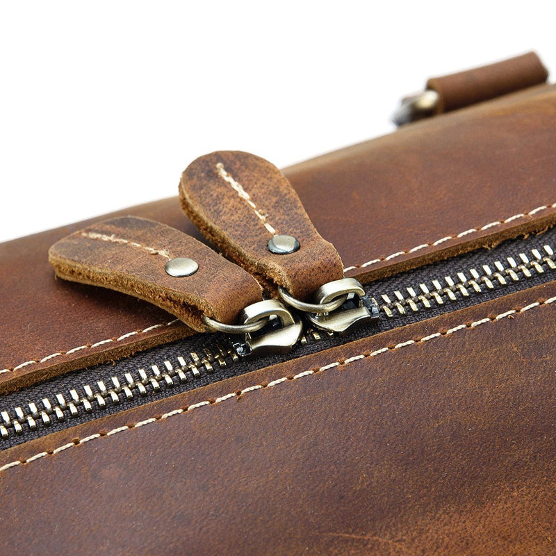 leather weekend duffle bag mens