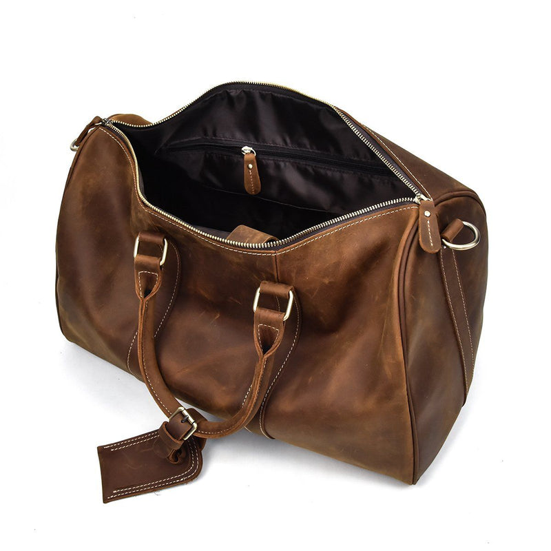 leather weekend holdall mens