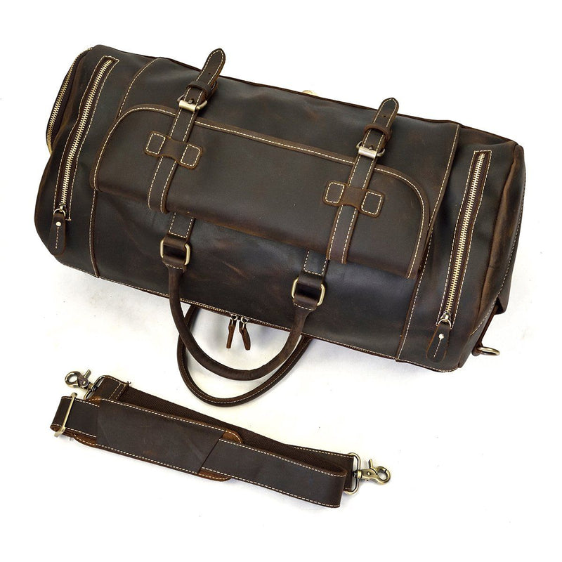 leather weekender duffel bags