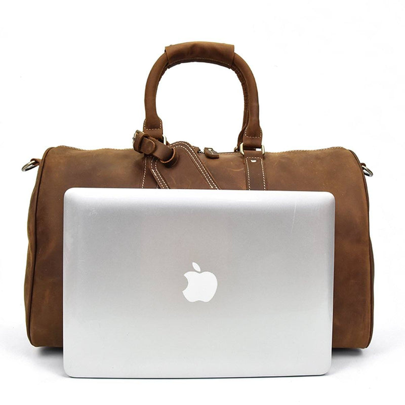 men's small leather holdall
