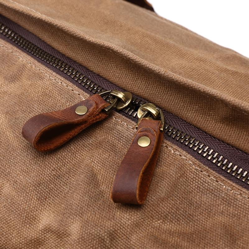 mens brown leather duffle bag