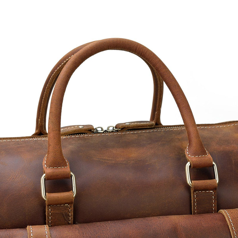 mens large leather weekend bag