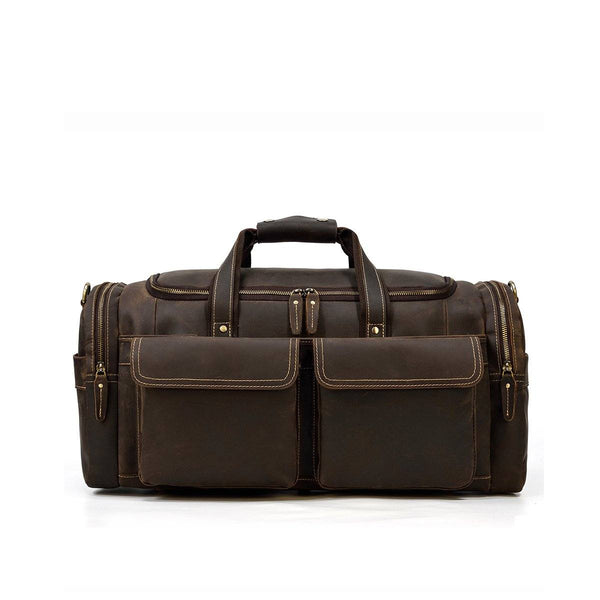 men's leather duffle bag
