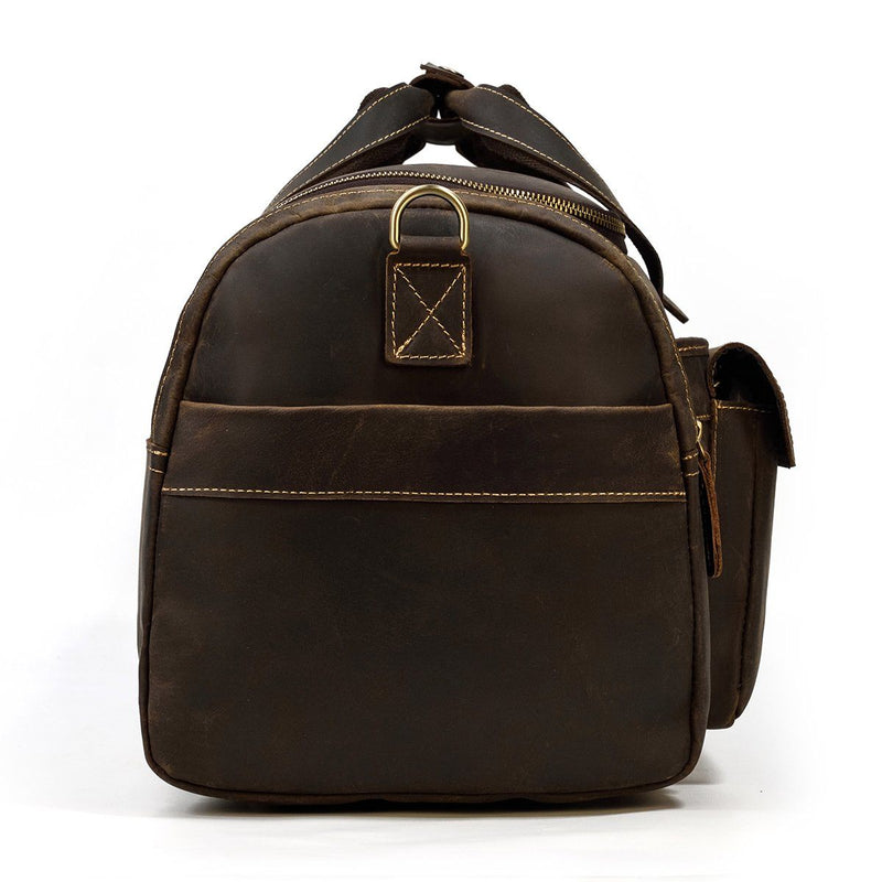 mens leather duffle bag sale