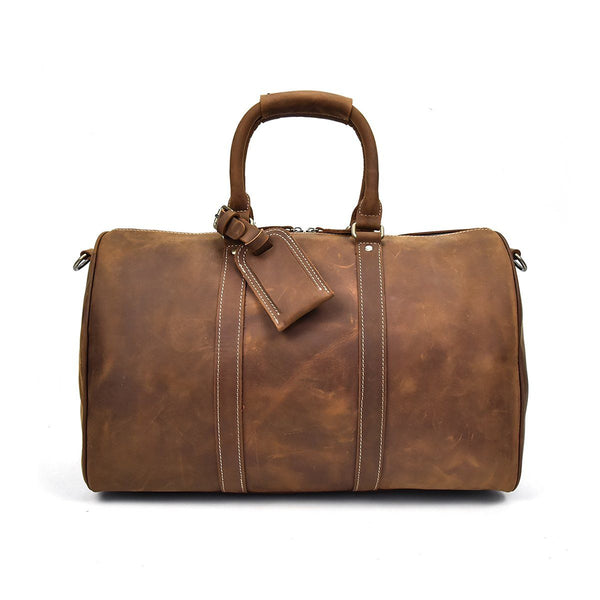 mens leather holdall bag
