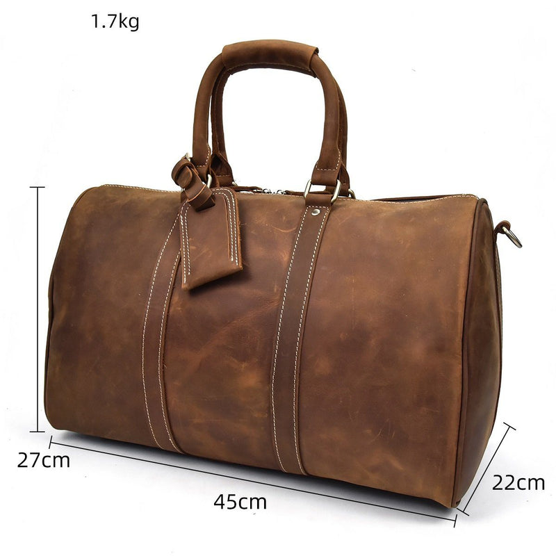 mens leather holdall sale