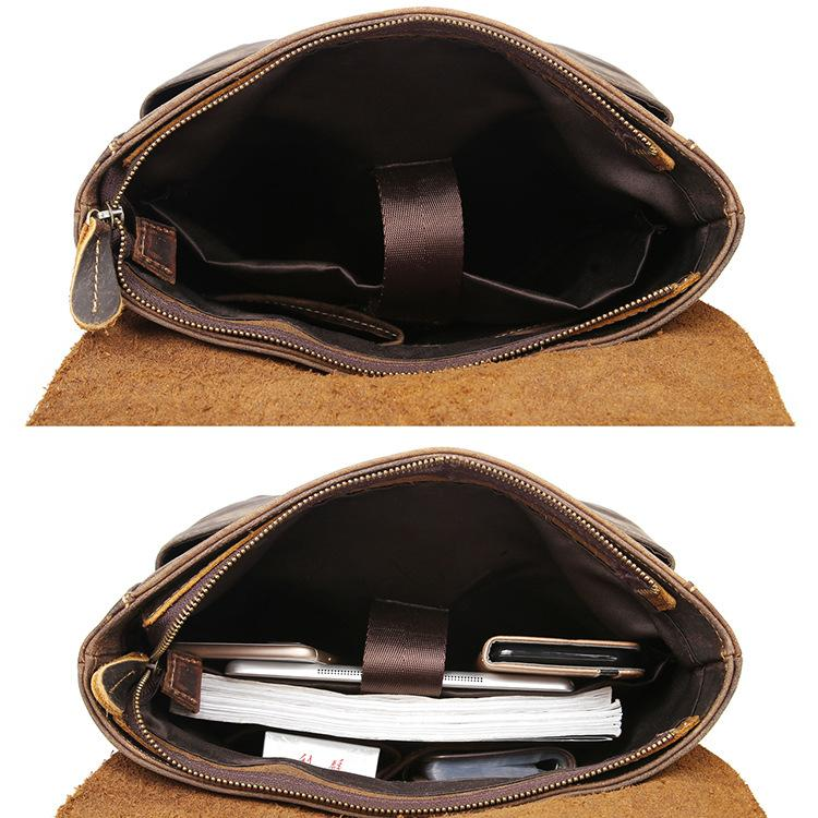 mens leather laptop messenger bag