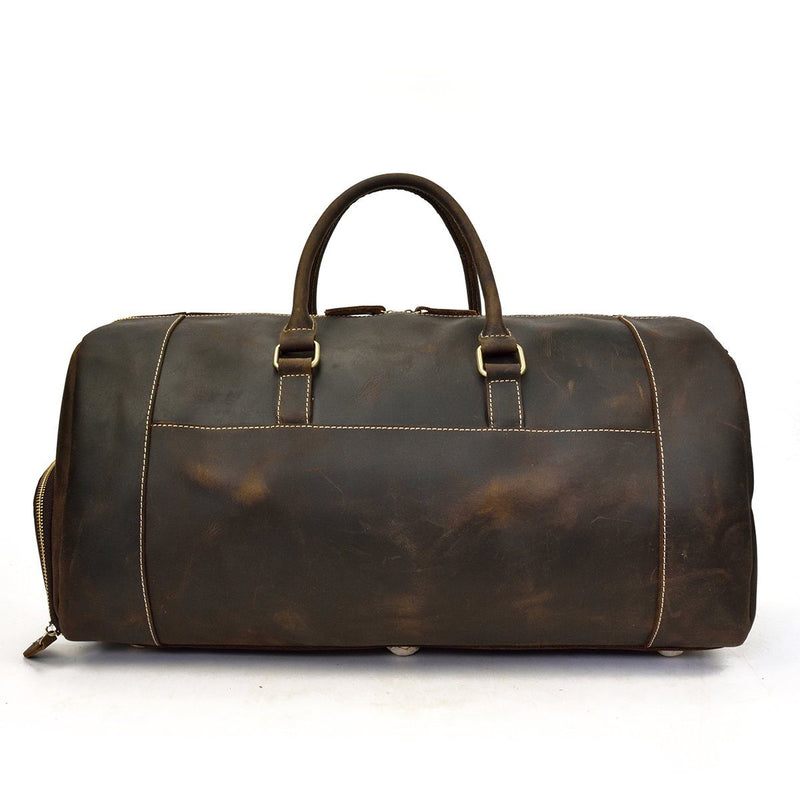 mens leather weekender