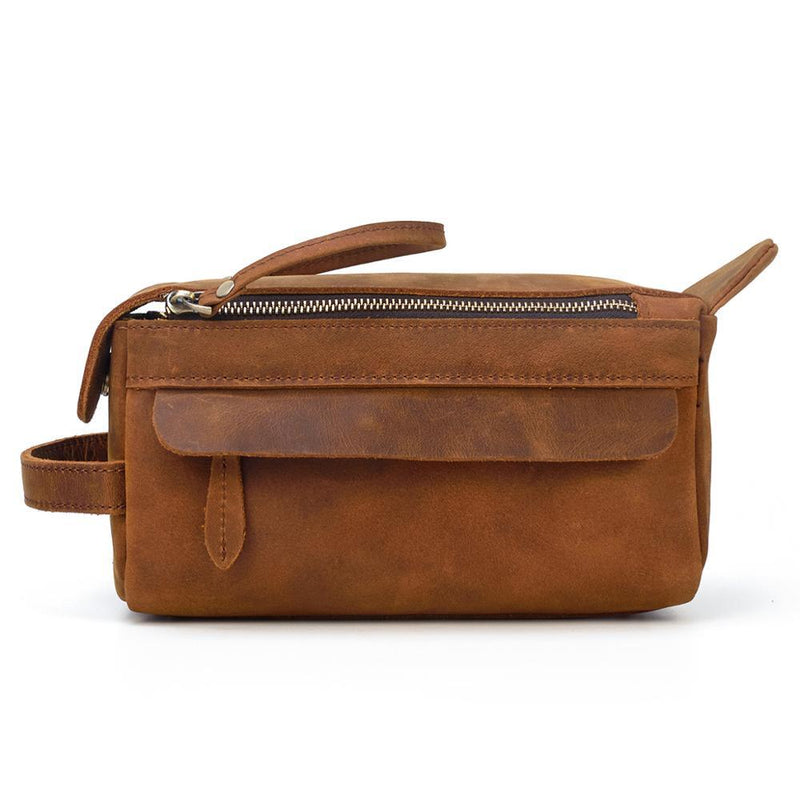 Leather Toilet Bag <br> KATMANDOU