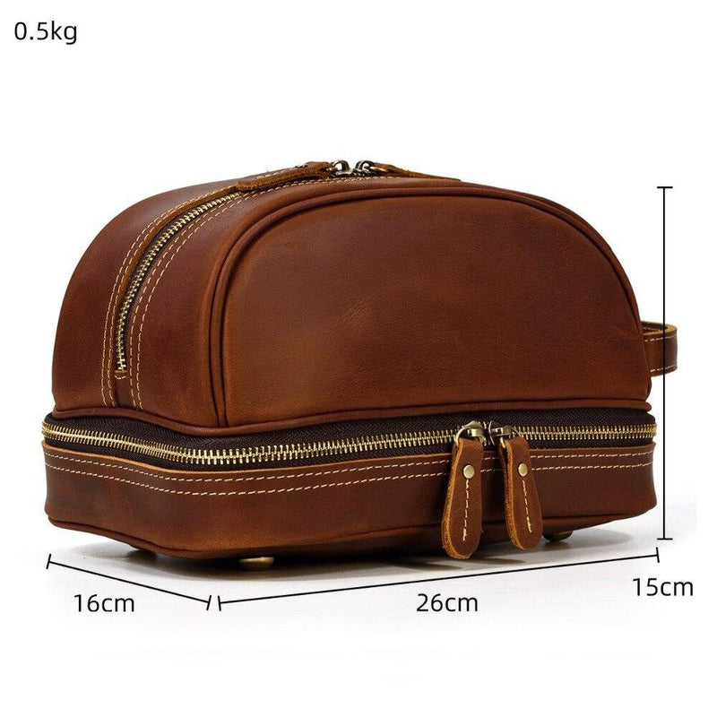 Leather Makeup Bag <br /> DAVAO