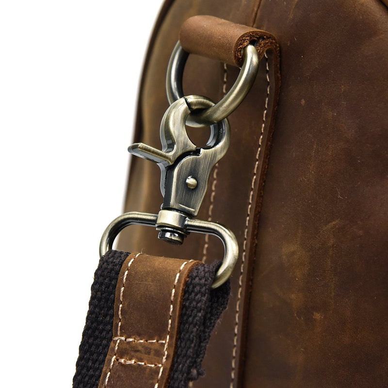 retro leather holdall