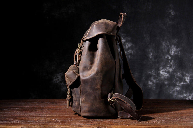 small leather rucksack